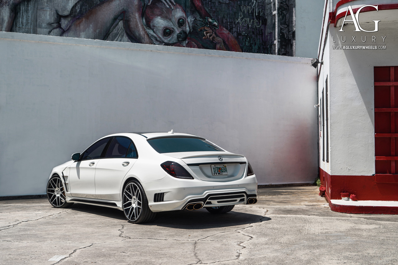 Ag luxury wheels mercedes benz s550 forged wheels for White mercedes benz