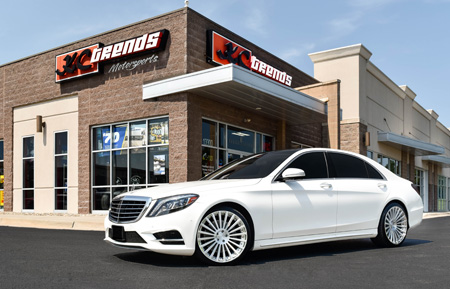 white mercedes sclass s-class s550 amg avant garde agwheels wheel wheels luxury agluxury agl25 duo block brushed polish forged concave 20spoke 20 twenty mono