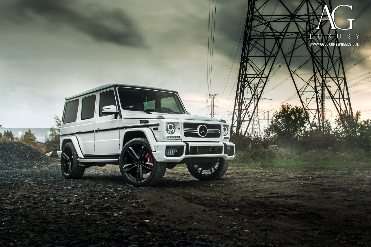 White Mercedes G Wagon