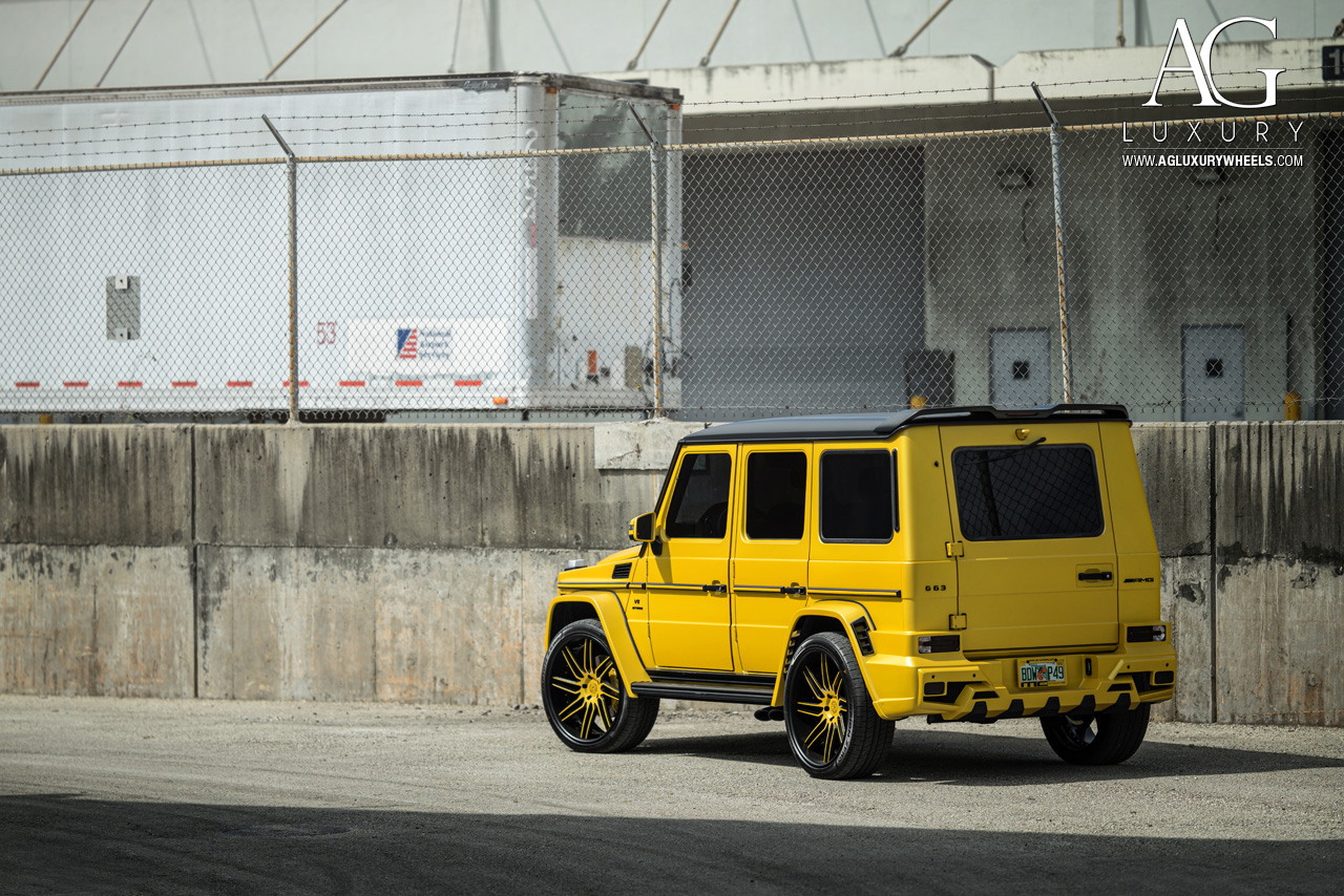 yellow mercedes benz g63 amg forged directional concave wheels two tone g wagon