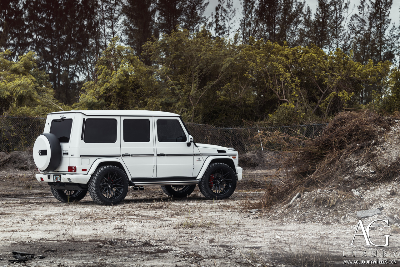 mercedes g63 amg gwagen agwheels agluxury luxury avant garde wheels wheel rim rims wagen wagon agl40 duoblock duo block gloss black white miami mccustoms williamstern