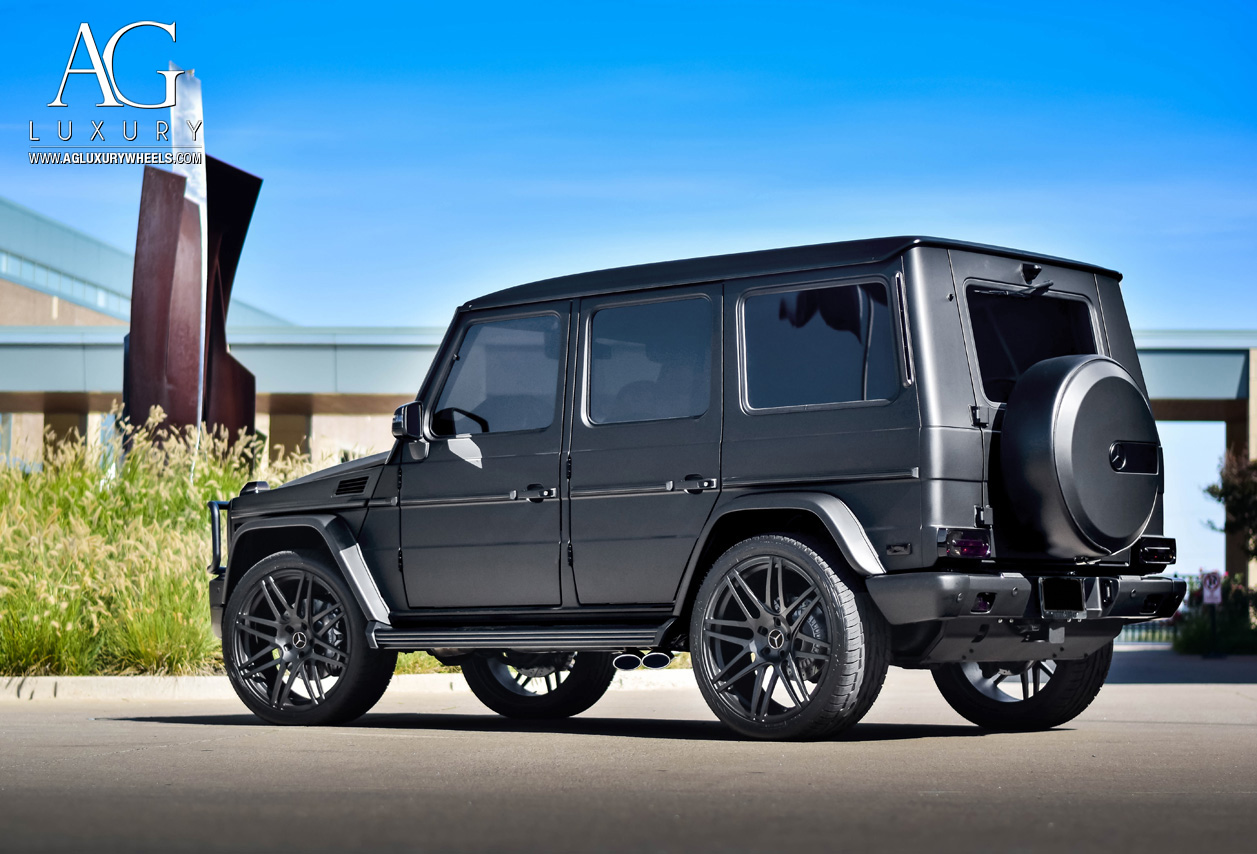 mercedes benz g63 amg matte black lifted offroad avant garde agwheels avantgardeluxury agluxury luxury rims rim wheel wheels agl44 monoblock 24inch 8 spoke 8spoke eight split