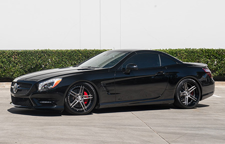 mercedes benz sl550 forged concave staggered wheels amg sl