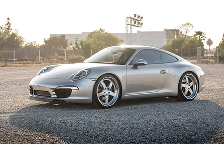porsche 991 carrera forged staggered wheels