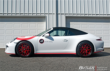 porsche carrera gts center lock forged wheels concave staggered 991