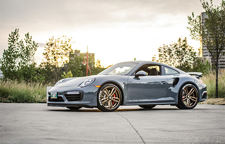 porsche 991 turbo forged wheels concave staggered