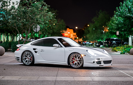 porsche 997 turbo concave forged staggered wheels