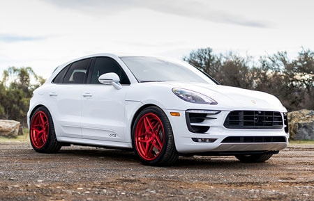 agluxury wheels agl43 custom forged three piece concave rims brushed candy apple red porsche macan gts 21in 21inch staggered adv.1 anrky brixton