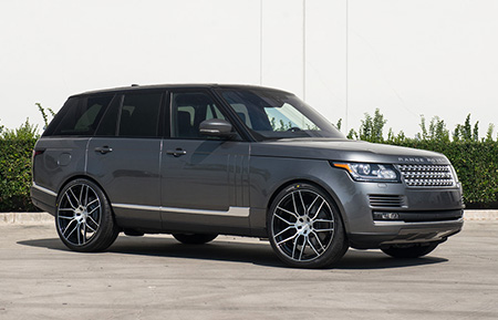 land rover range rover monoblock forged concave brushed wheels