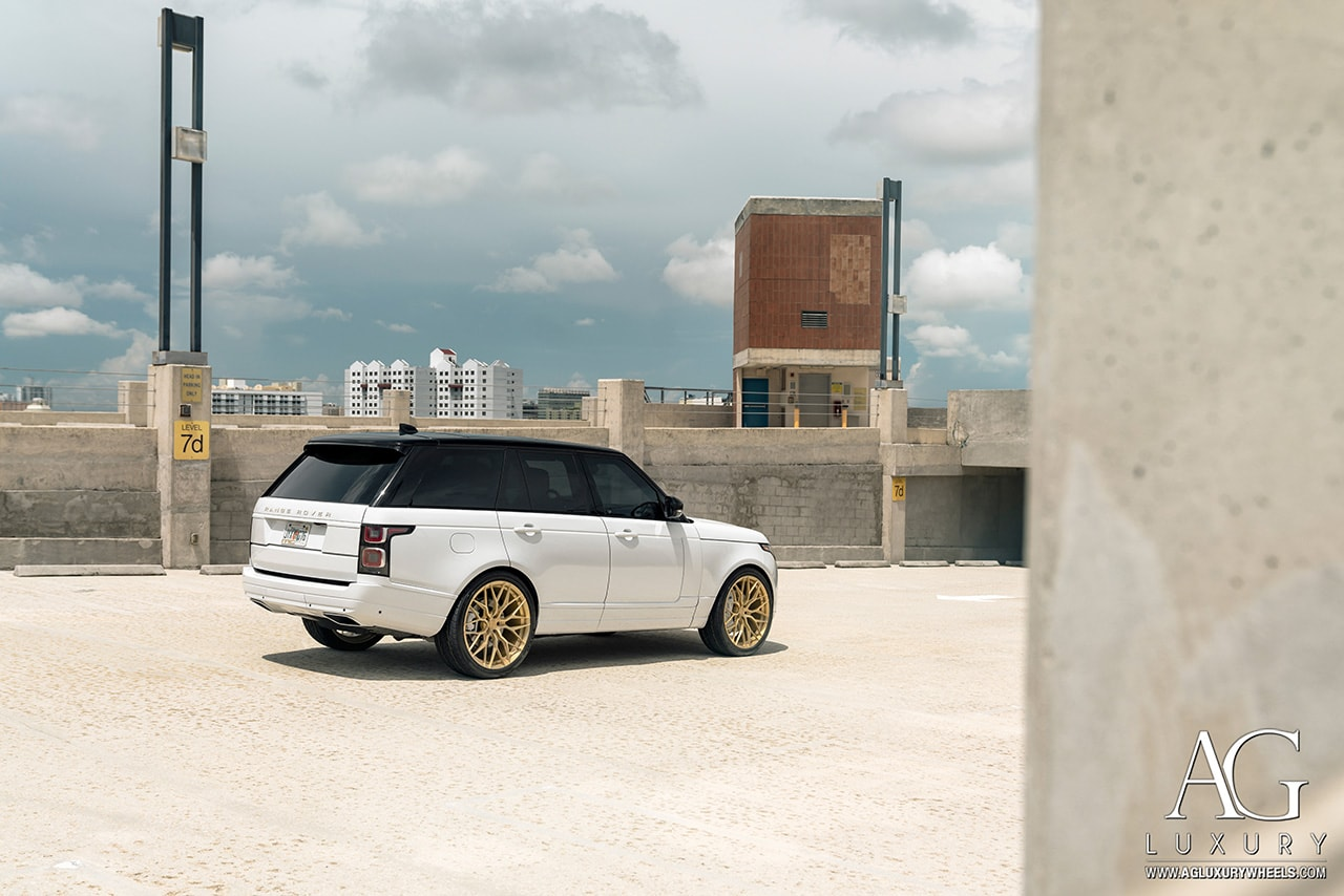 agluxury wheels ag luxury agwheels avant garde wheel range rover hse forged wheels agl43 monoblock matte brushed radiant gold 24s 24 24inch custom concave forge mesh land mccustoms miami mc customs
