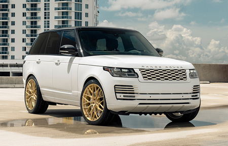agluxury wheels ag luxury agwheels avant garde wheel range rover hse forged wheels agl43 monoblock matte brushed radiant gold 24s 24 24inch custom concave  mesh land mccustoms miami mc customs