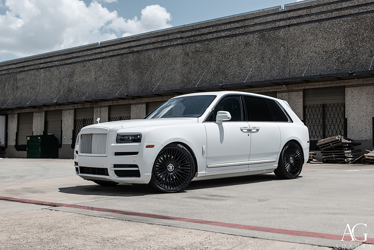 agluxury wheels agl65 matte black custom concave forged wheels monoblock rolls-royce cullinan suv 24inch 24in vossen forgiato anrky adv.1 vellano