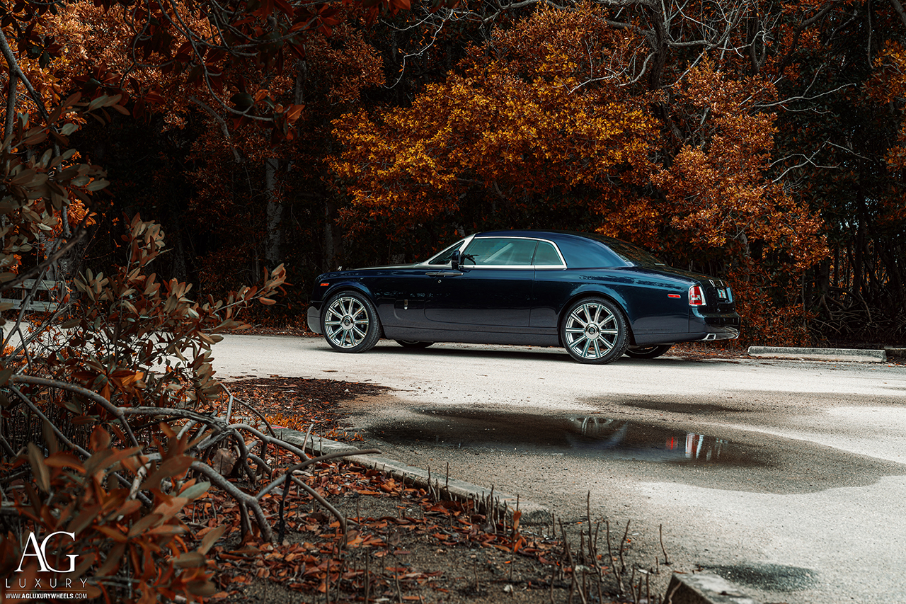rolls royce phantom 24 inch polished forged monoblock concave black wheels