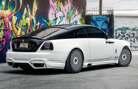 agluxury agl45 rr agl45-rr rolls royce rolls-royce wraith ghost dawn phantom agluxury luxury rim rims wheel wheels monoblock 24inch 24s 24 mccustomsmiami mccustoms miami 2-tone gloss white face gloss black windows
