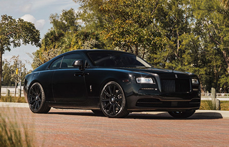 rolls royce wraith staggered concave forged gloss black wheels