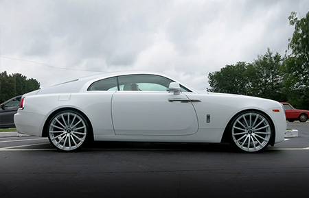 rolls royce wraith monoblock forged concave silver wheels