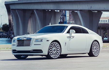 rolls royce wraith concave forged mesh wheels