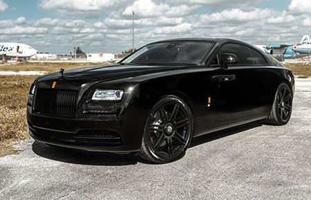 rolls royce wraith staggered concave forged wheels