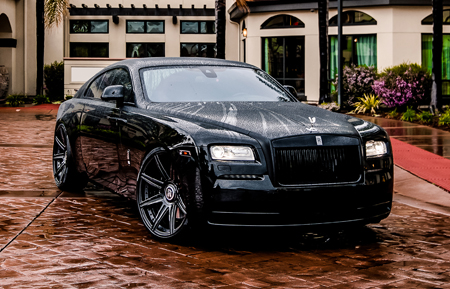 black rolls royce wraith blackout agluxury wheels agl22 8r 8 spoke custom concave duo block two piece forged two tone vellano adv.1 hre vossen rims