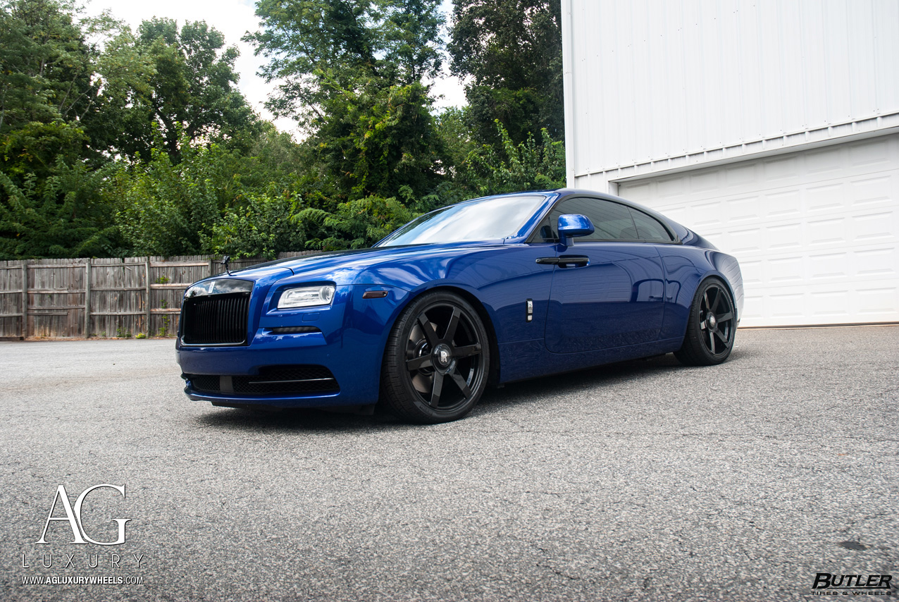 nardo gray rolls royce wraith 24 inch 24in forged monoblock concave multispoke gloss black wheels rims