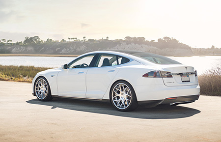 tesla model s p85 staggered concave forged wheels