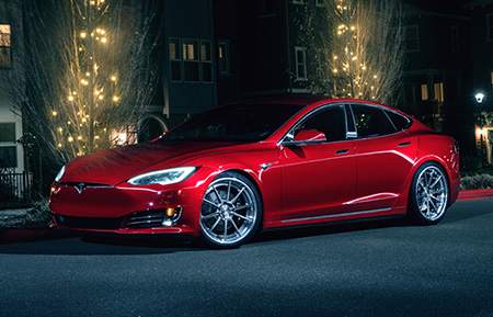 tesla model s p100d forged concave staggered wheels