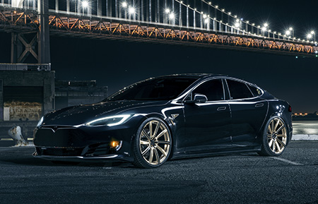 tesla model s forged wheels concave staggered directional