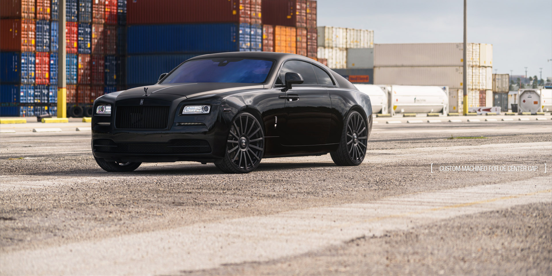 Rolls Royce Ghost forged concave monoblock black wheels