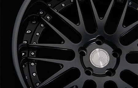 agl10 spec1 concave matte black gloss lip custom forged 3 piece wheels