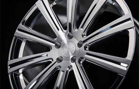 agl11 monoblock forged wheels brushed polished