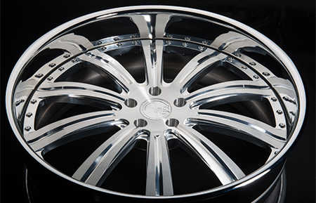 agl11 brushed polished chrome reverse custom forged lip wheels