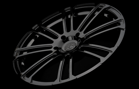 agl14 custom forged monoblock concave wheels gloss black