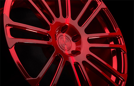 agl14 custom forged monoblock concave wheels brushed candy apple red