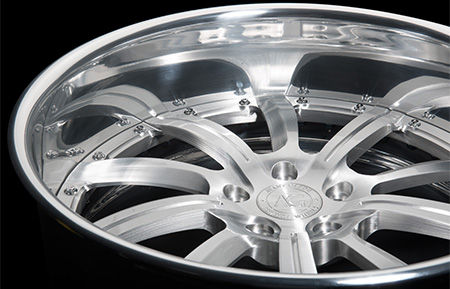 agl17 custom forged wheels brushed polished