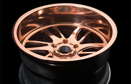 agl18 off road custom forged truck wheels polished copper