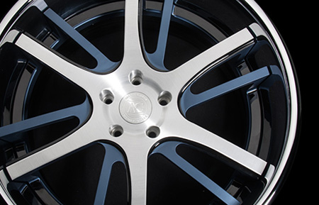 agl18 spec2 custom forged wheels two tone oem color match chrome lip