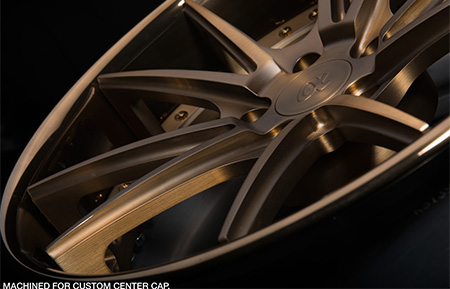 agl19 spec2 concave forged wheels brushed antique bronze matte polished liquid bronze lip