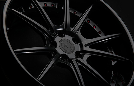 agl19 spec2 concave matte black gloss black lip forged wheels