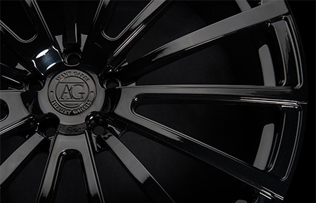 agl20 monoblock concave forged gloss black wheels