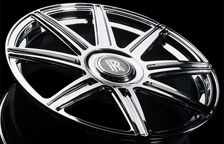 agl22 8r rolls royce center cap monoblock forged wheels chrome