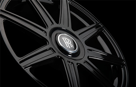 agl22 8r rolls royce center cap monoblock forged wheels gloss black
