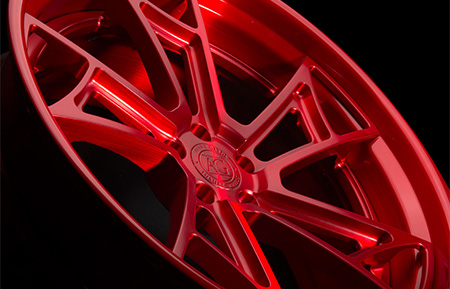 agl24 spec3 concave forged wheels brushed candy apple red lip
