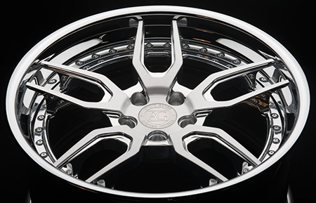 agl26 spec3 concave forged wheels brushed polished
