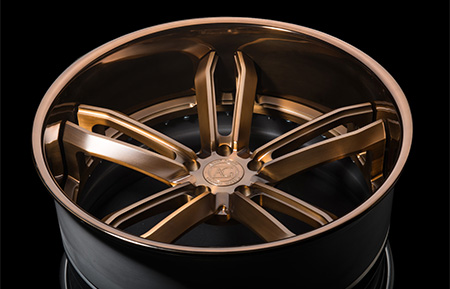 agl27 spec2 concave forged wheels matte brushed antique bronze