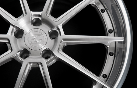 agl31 agluxury luxury wheels spec 3 brushed grigio polished lip wheel rims range rover land rover concave forged wheels matte black vossen vellano adv1 spec3