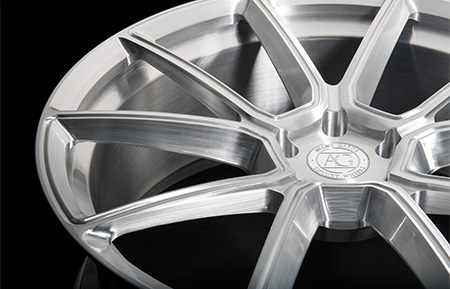 agl33 monoblock concave forged wheels brushed