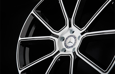 agl33 monoblock forged wheels gloss white concave white accents