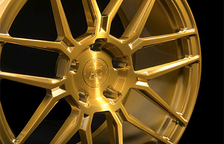 agl35 monoblock forged wheels nd brushed gold bullion