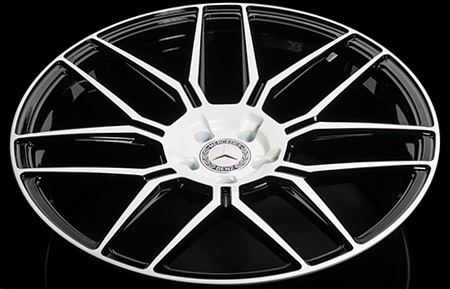 agl35-nd monoblock forged wheels gloss white concave