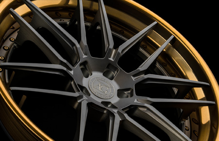 agluxury agwheels avant garde avant garde luxury rims rim wheel agl35 spec3 three piece forged wheels matte candy black face brushed liquid bronze lip concave